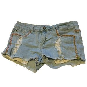 Hot Kiss Boho Cut Off Shorts - Junior's Size 5